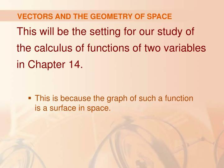 Vectors and the geometry of space3