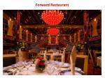 forward restaurant