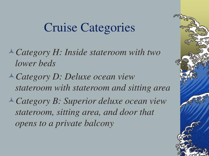 Cruise categories