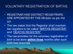 voluntary registration of births