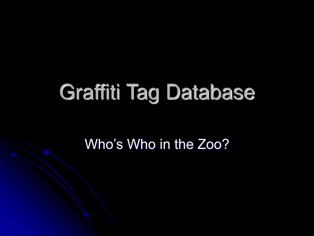 graffiti tag database l.