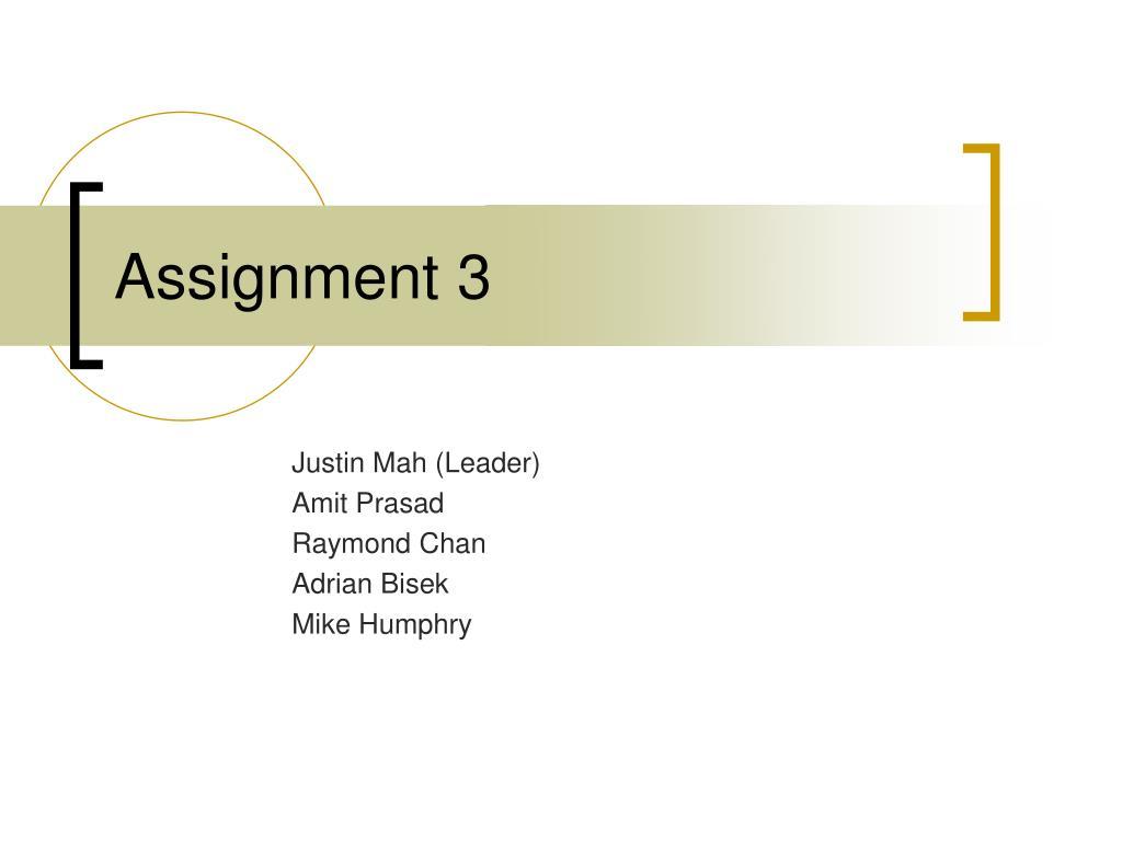 assignment 3 l.