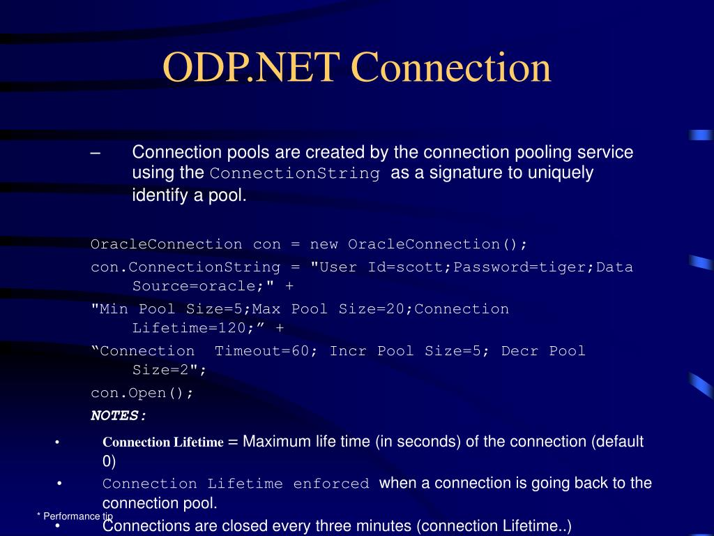 ODP.NET Connection