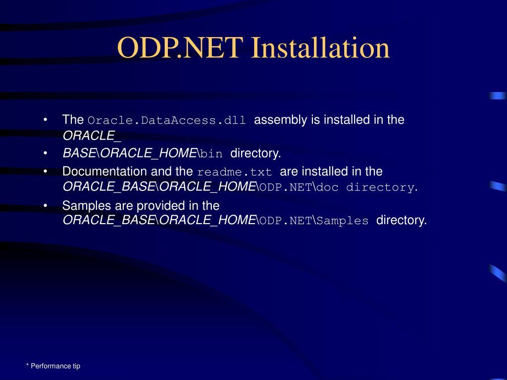 ODP.NET Installation