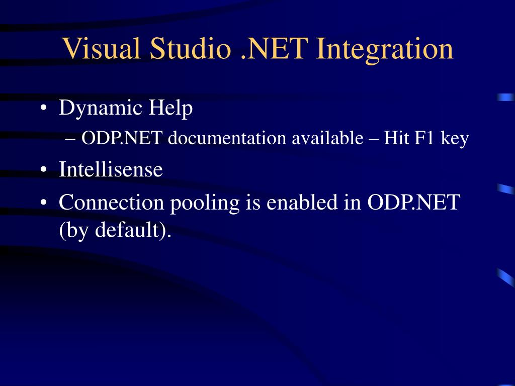 Visual Studio .NET Integration