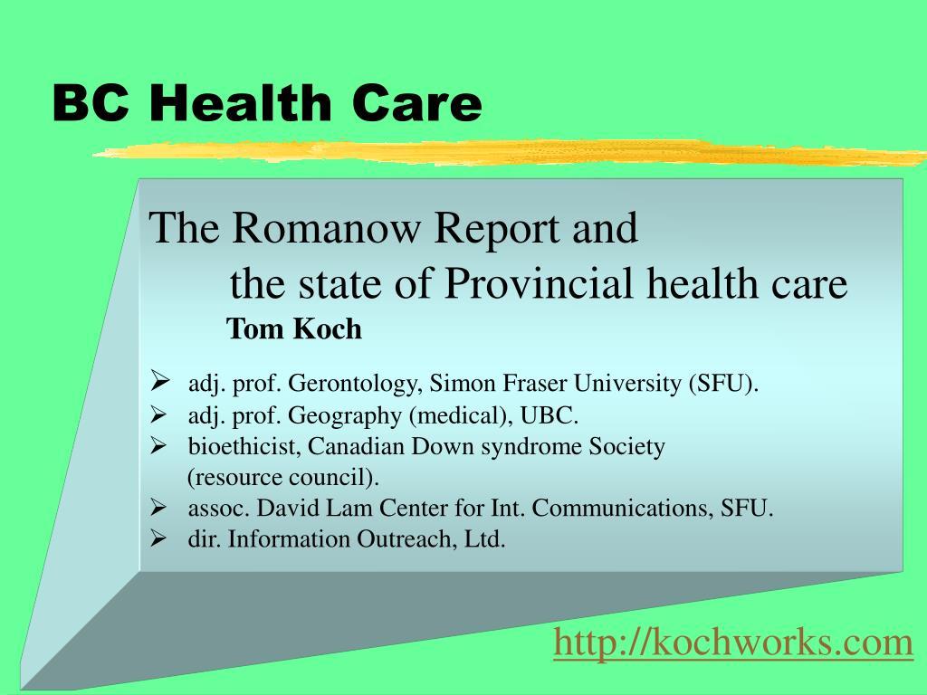 bc health care l.