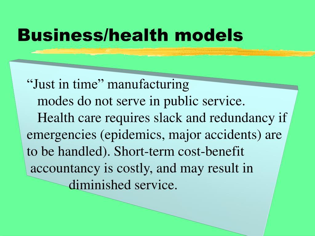 Business/health models