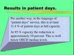 results in patient days