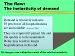the flaw the inelasticity of demand