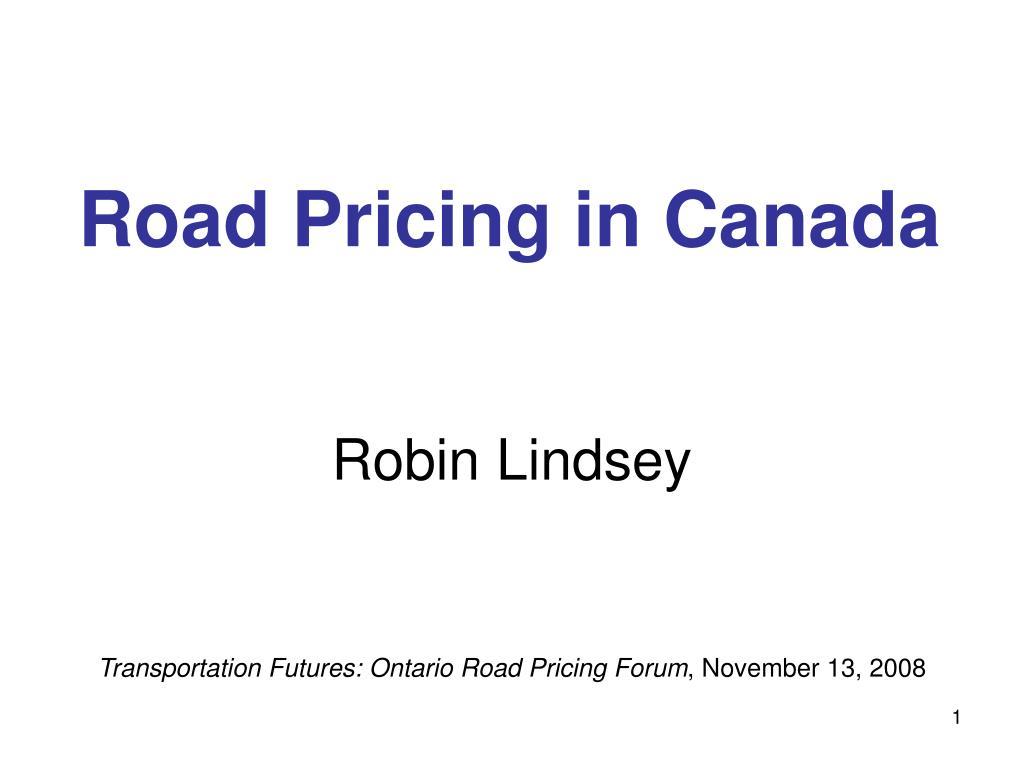 road pricing in canada l.