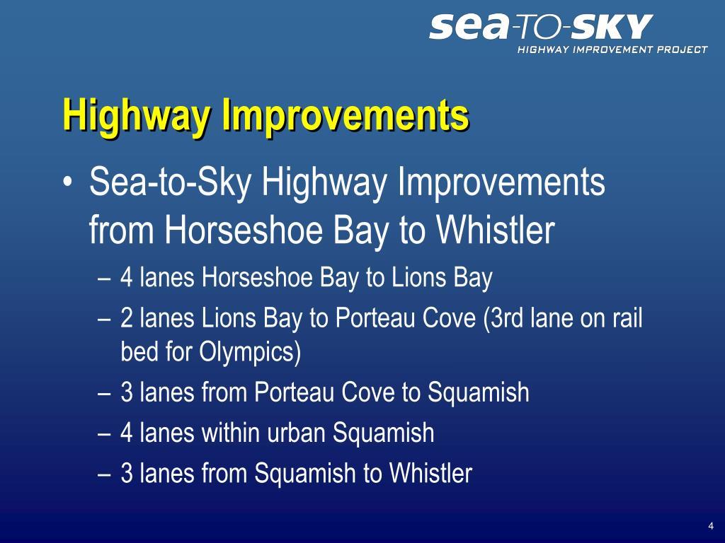 Highway Improvements