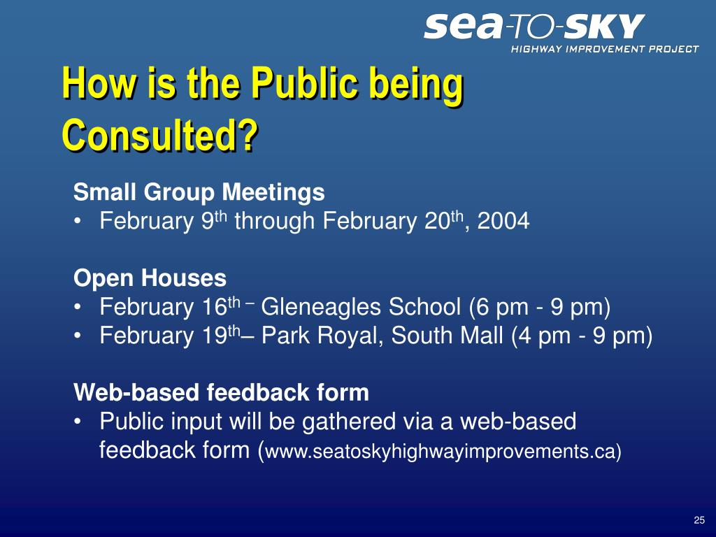How is the Public being Consulted?