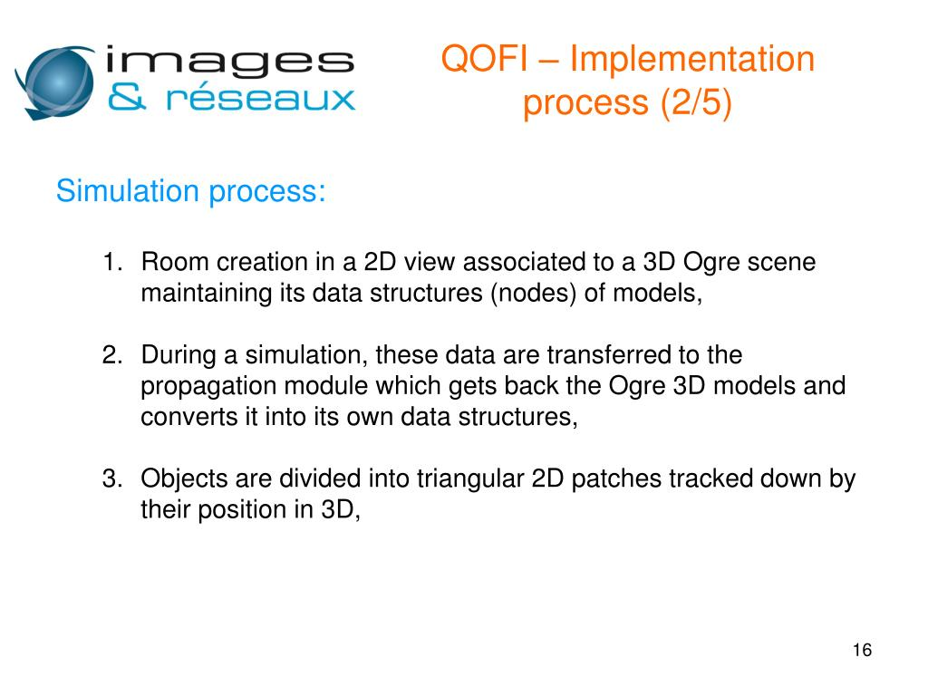 QOFI – Implementation process (2/5)