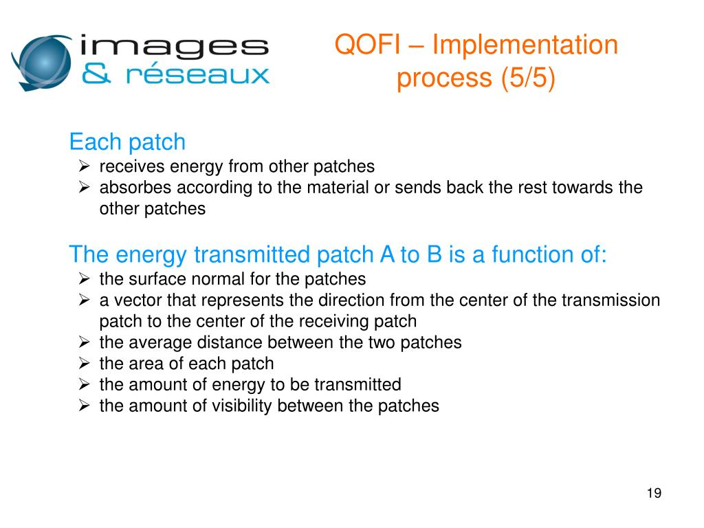 QOFI – Implementation process (5/5)