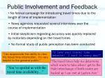 public involvement and feedback