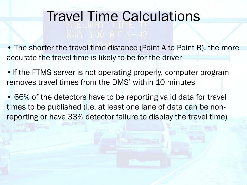 Travel Time Calculations