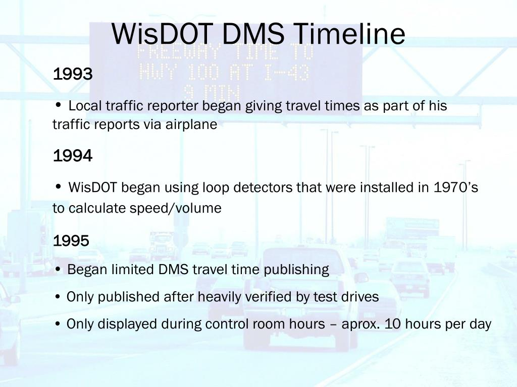 WisDOT DMS Timeline