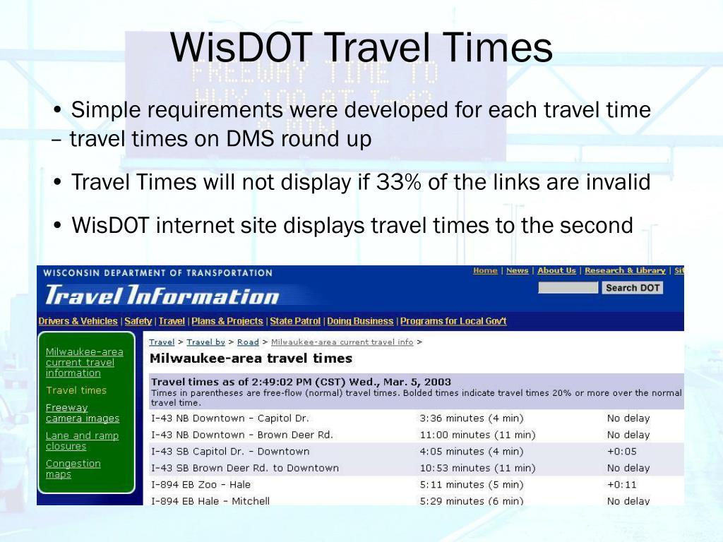 WisDOT Travel Times