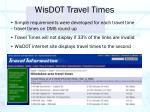 wisdot travel times10