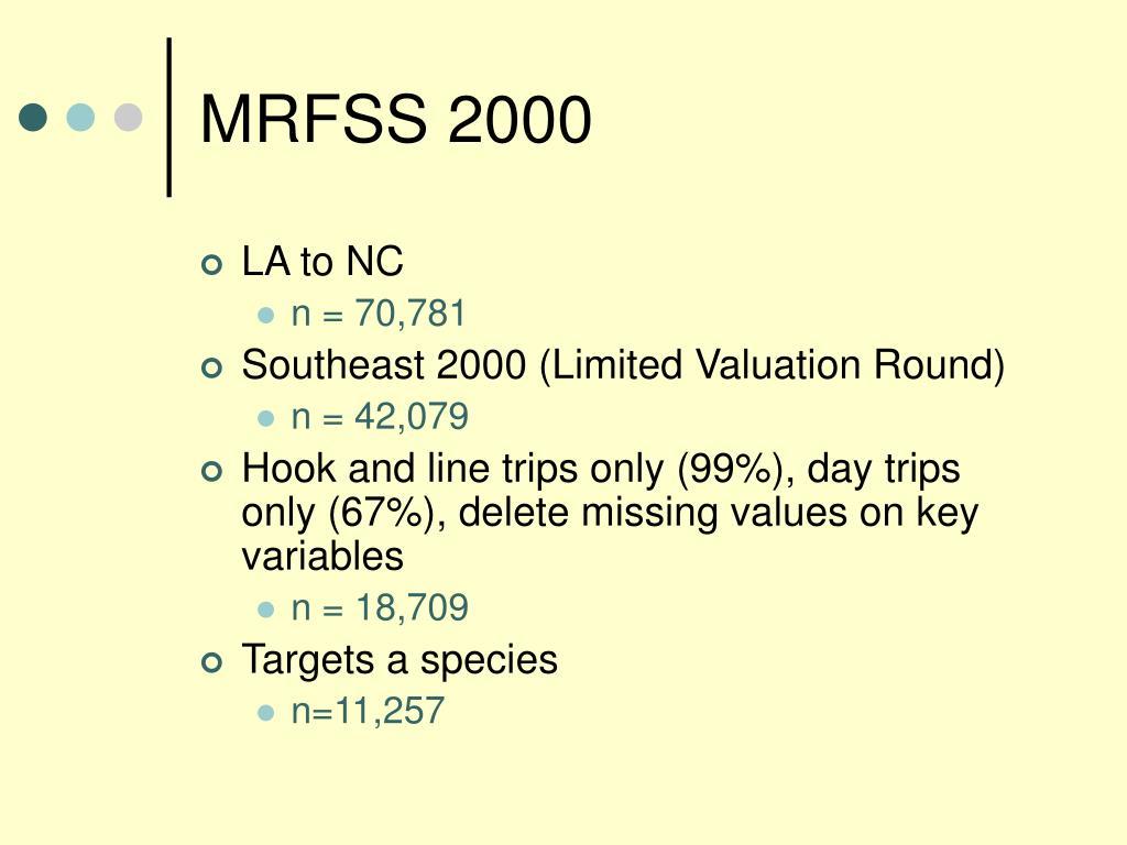 MRFSS 2000