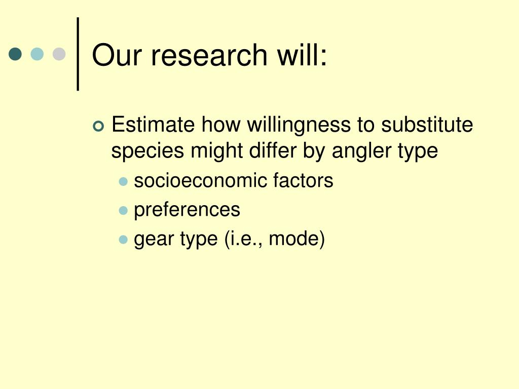 Our research will: