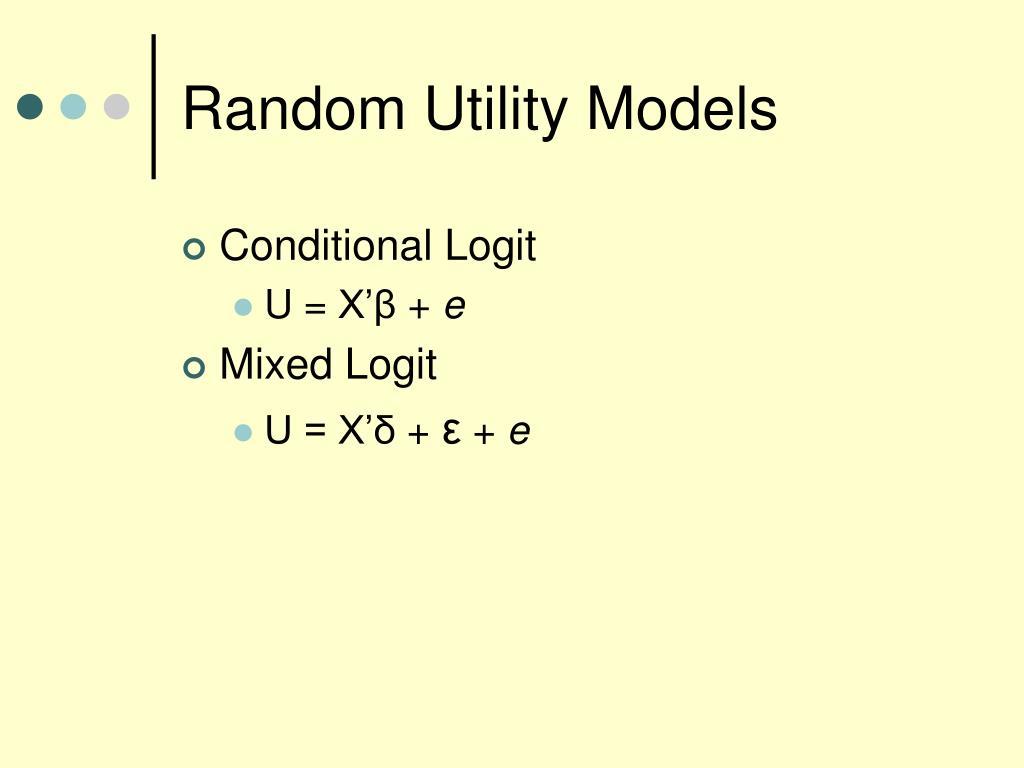 Random Utility Models