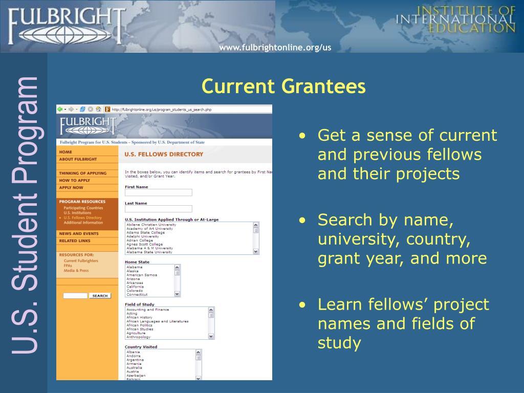 Current Grantees