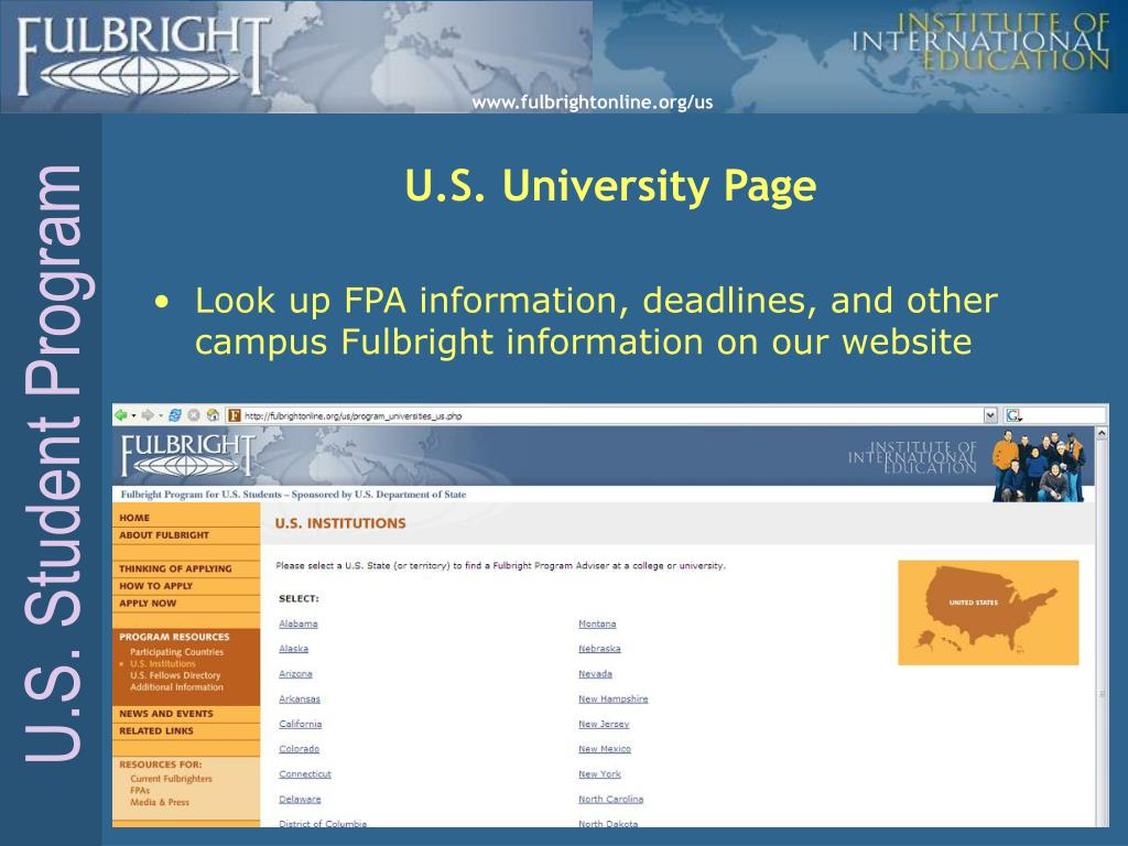 U.S. University Page
