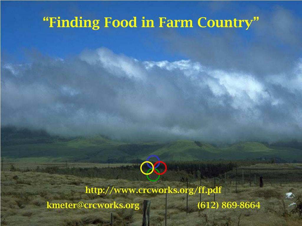 """Finding Food in Farm Country"""