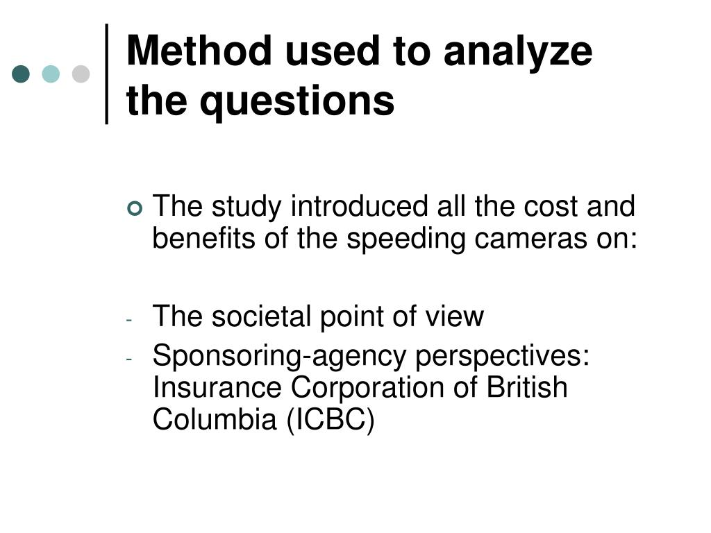 Method used to analyze the questions