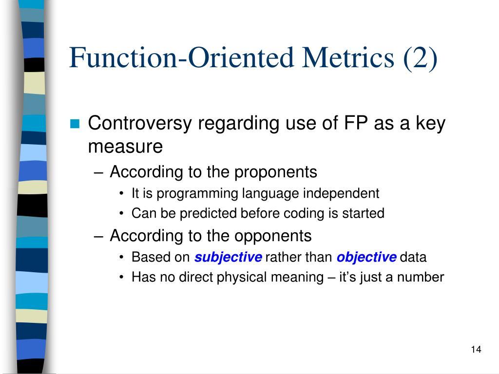 Function-Oriented Metrics (2)
