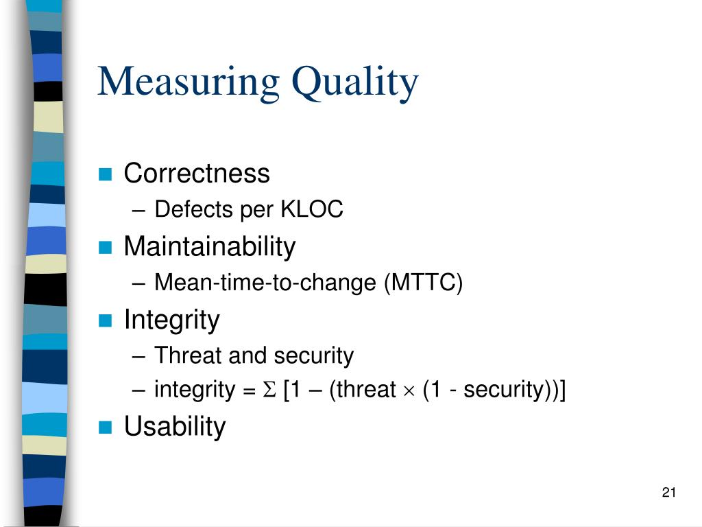 Measuring Quality