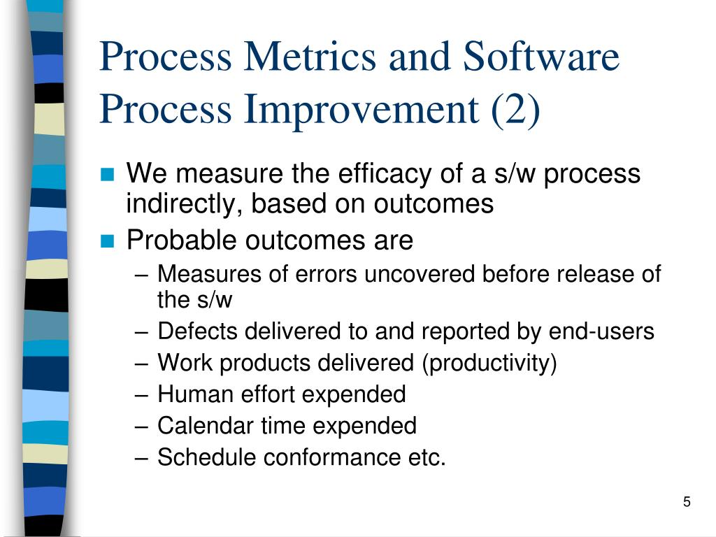 Process Metrics and Software Process Improvement (2)