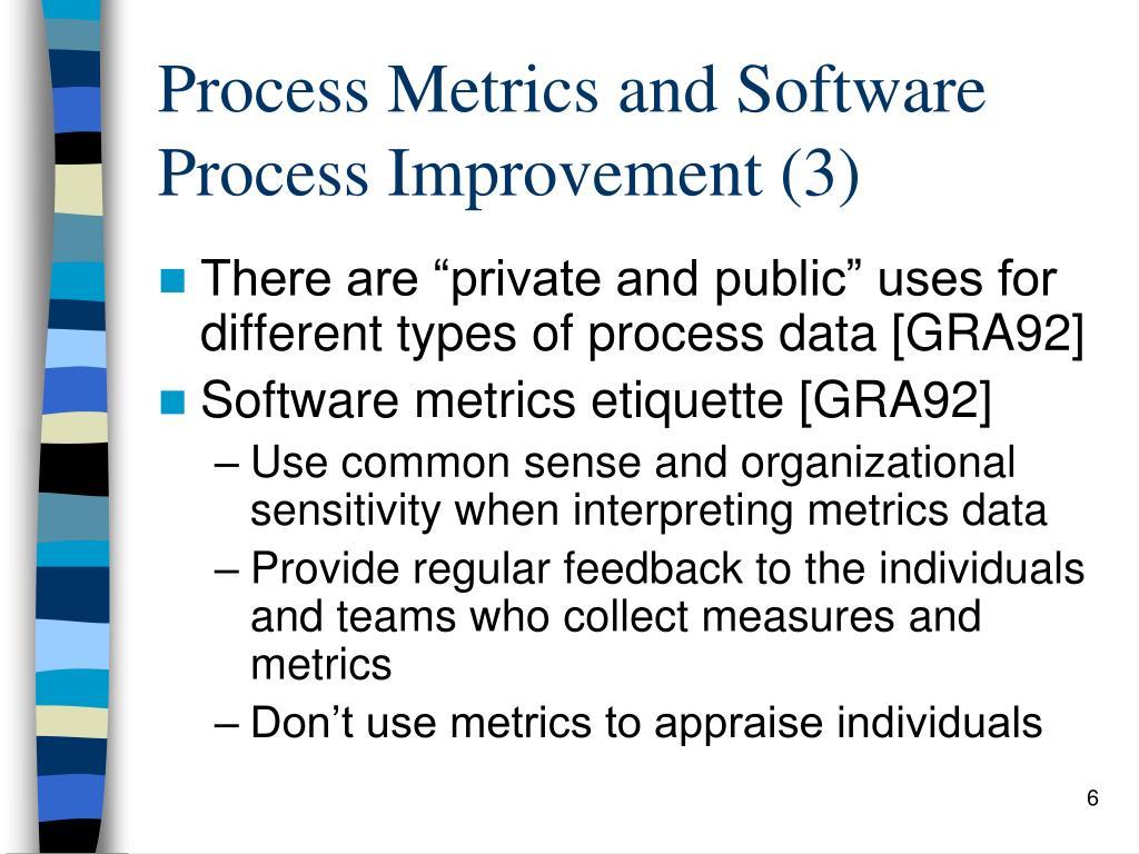 Process Metrics and Software Process Improvement (3)