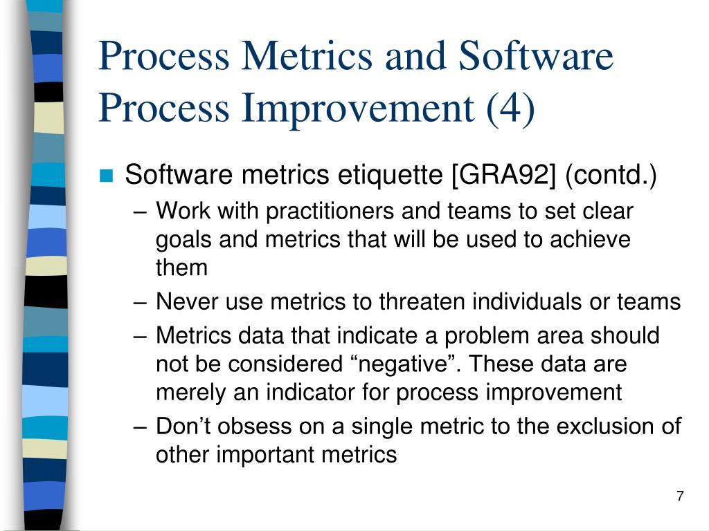 Process Metrics and Software Process Improvement (4)