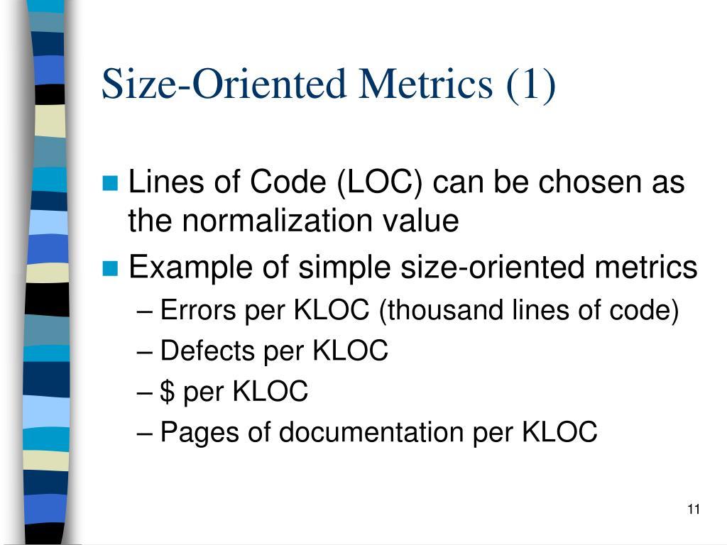 Size-Oriented Metrics (1)