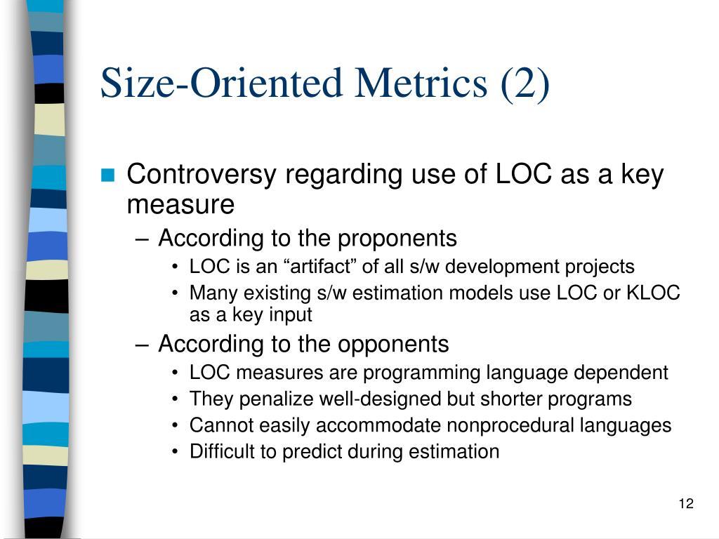 Size-Oriented Metrics (2)