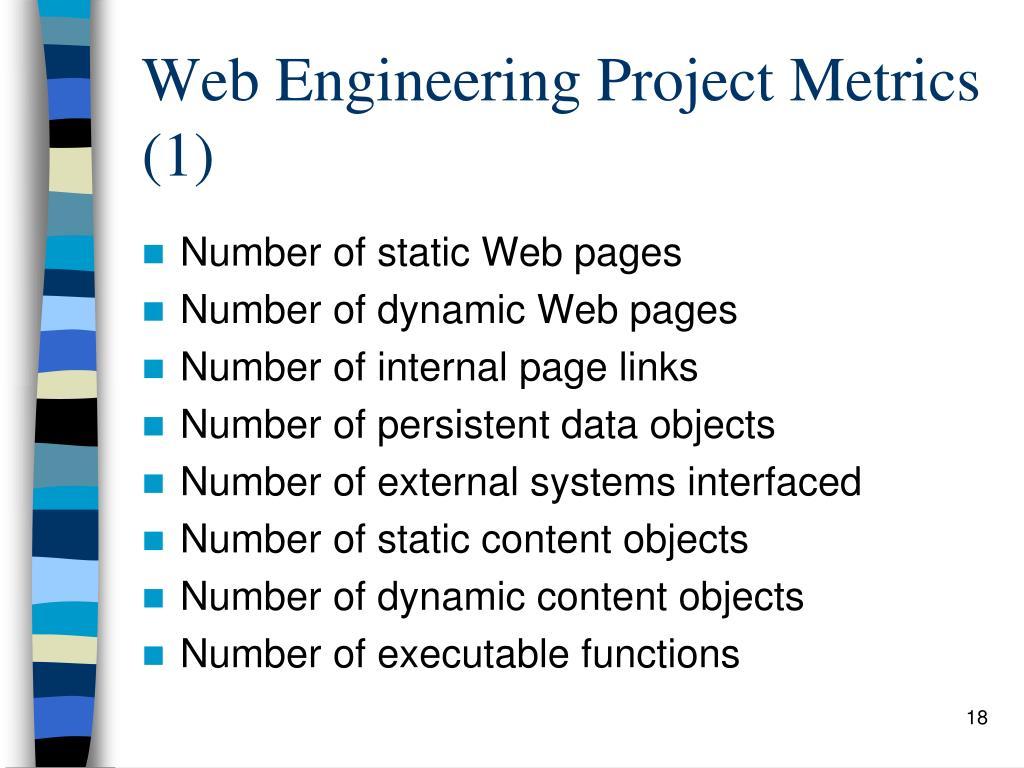 Web Engineering Project Metrics (1)