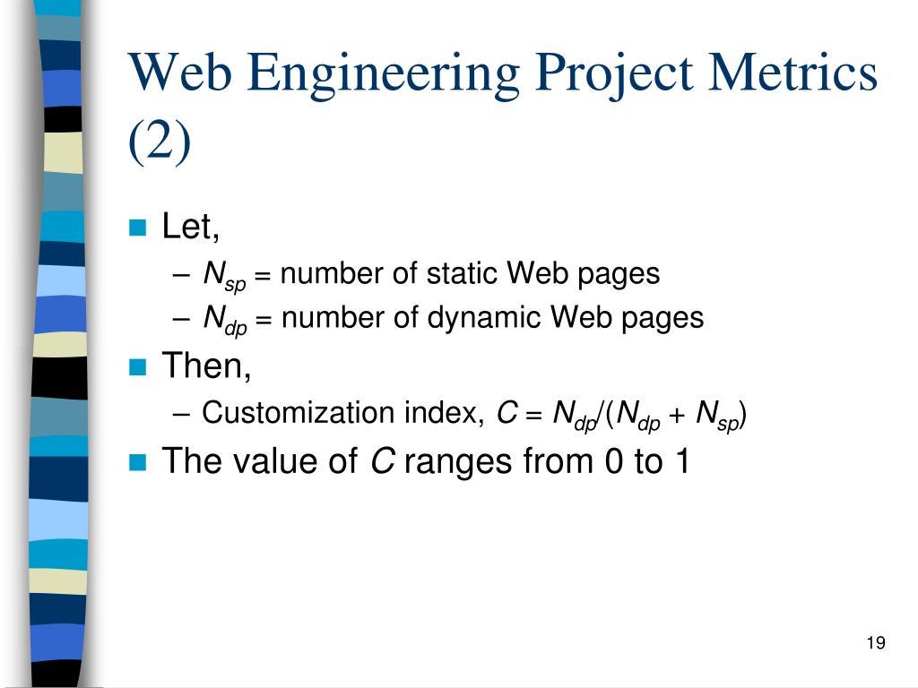 Web Engineering Project Metrics (2)