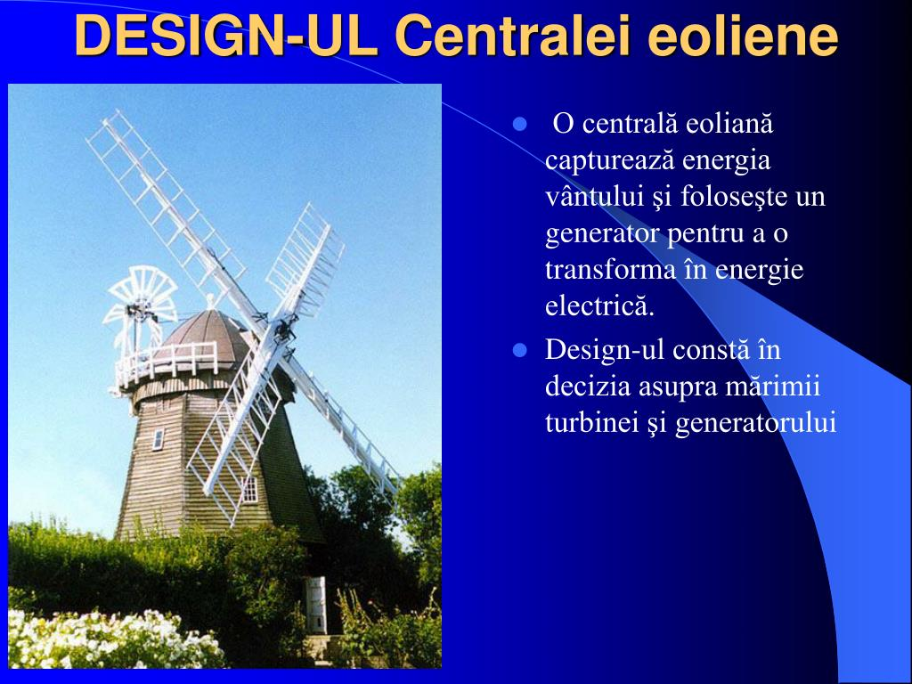 DESIGN-UL Centralei eoliene