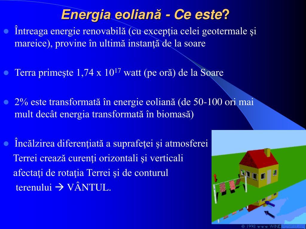 Energia eoliană - Ce este