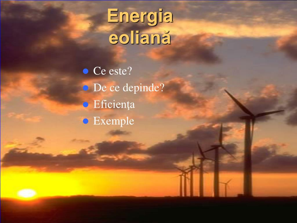Energia eoliană