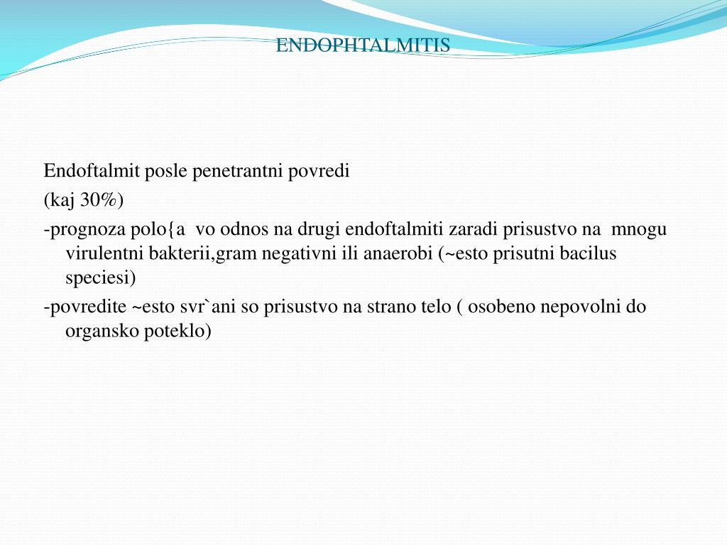 ENDOPHTALMITIS