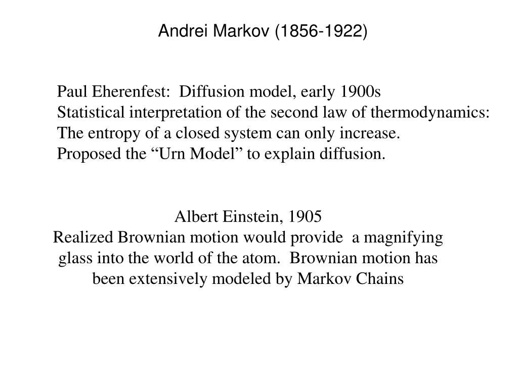 Andrei Markov (1856-1922)