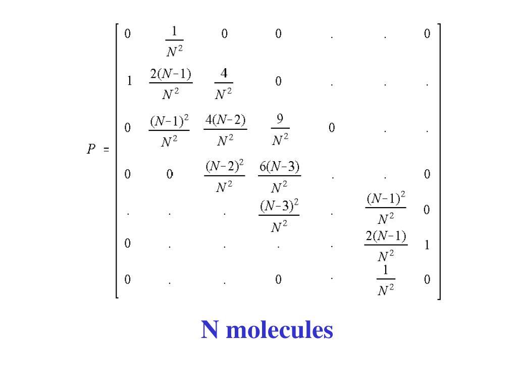 N molecules