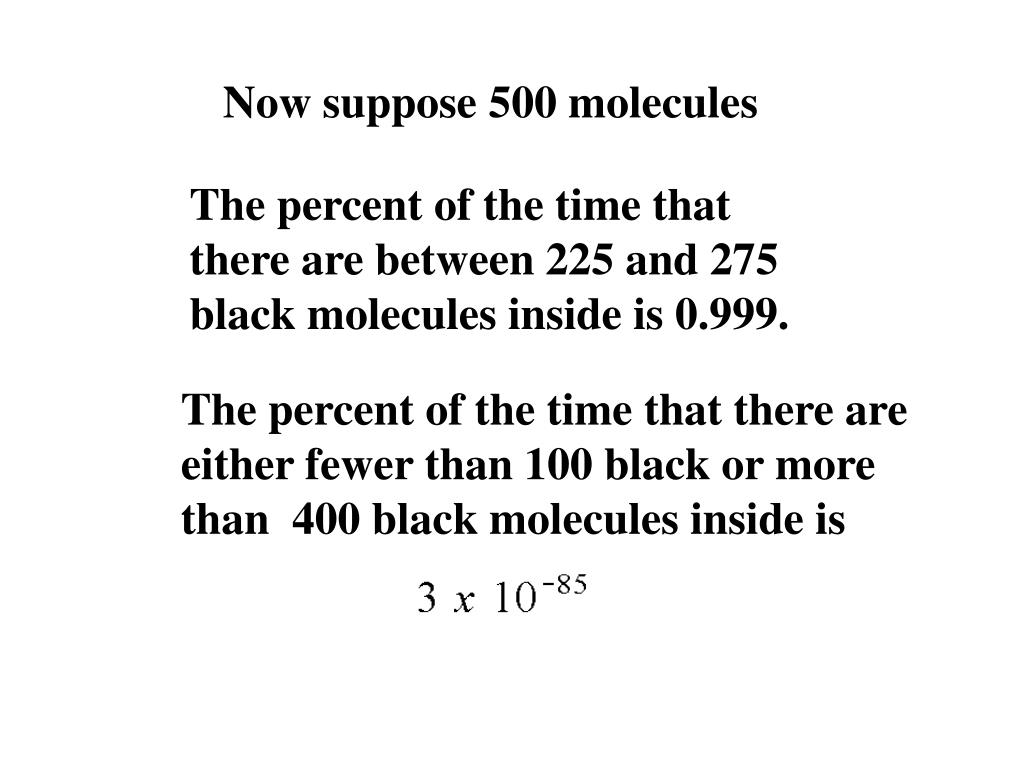 Now suppose 500 molecules