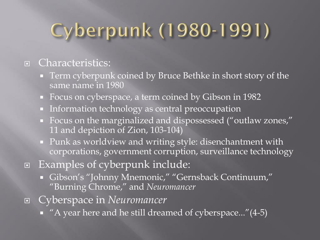 Cyberpunk (1980-1991)