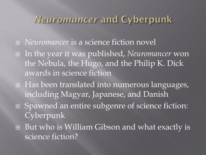 Neuromancer and cyberpunk