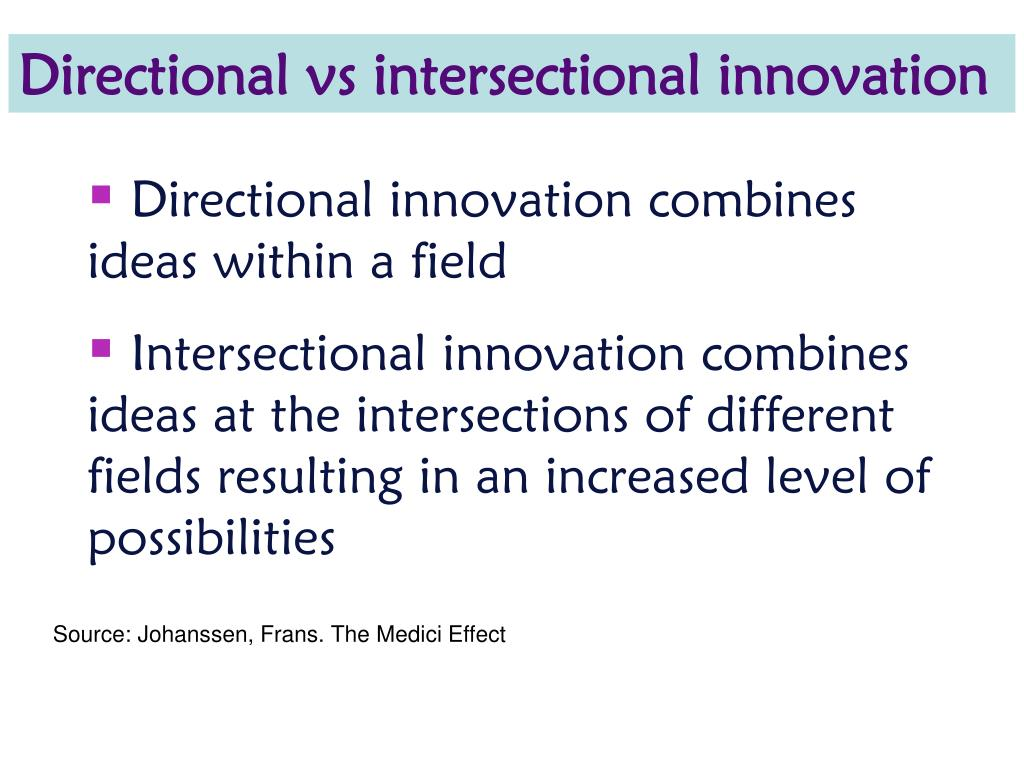 Directional vs intersectional innovation