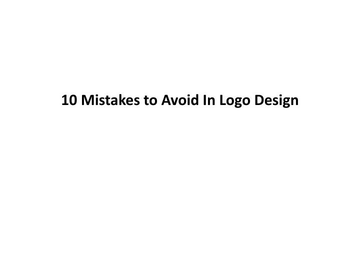 10 mistakes to avoid in logo design n.